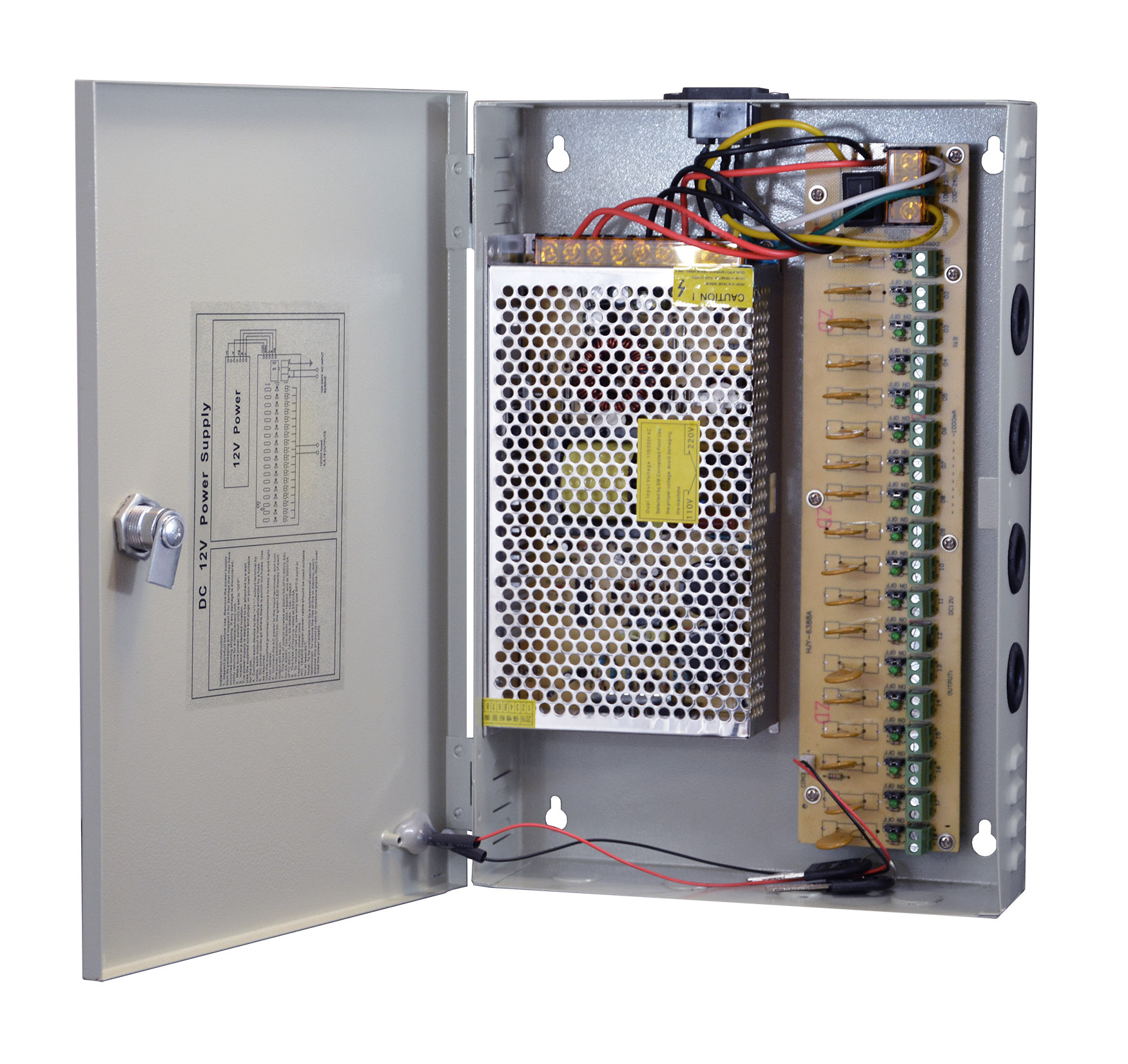 Power supply unit for CCTV cameras - UPS for PC CCTV with battery