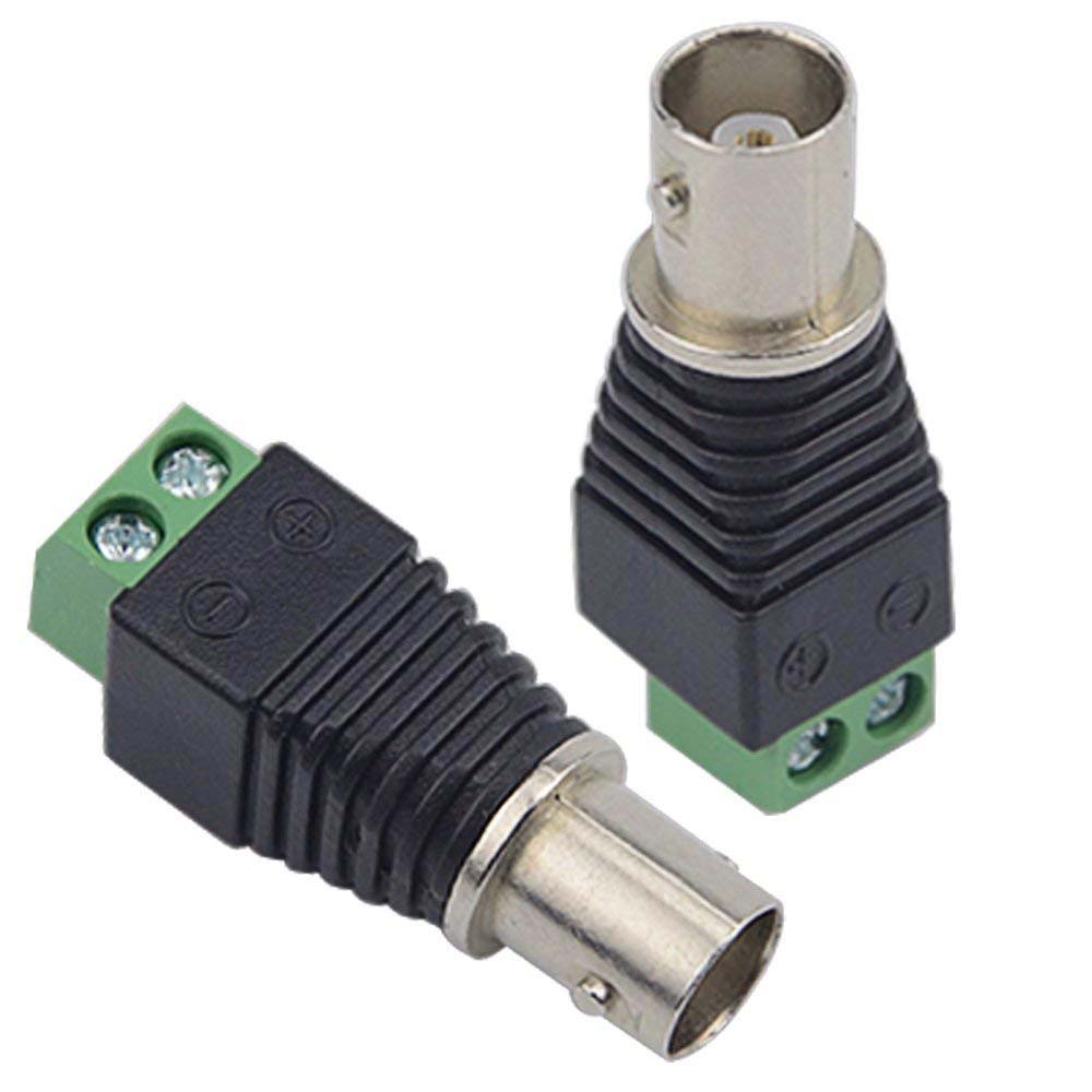 Dse Cctv Connectors For Security Cameras Bnc Rj45 Rca N F Sma Dc 5mm Power Solder Plug End Connection Cable Re Bnct2