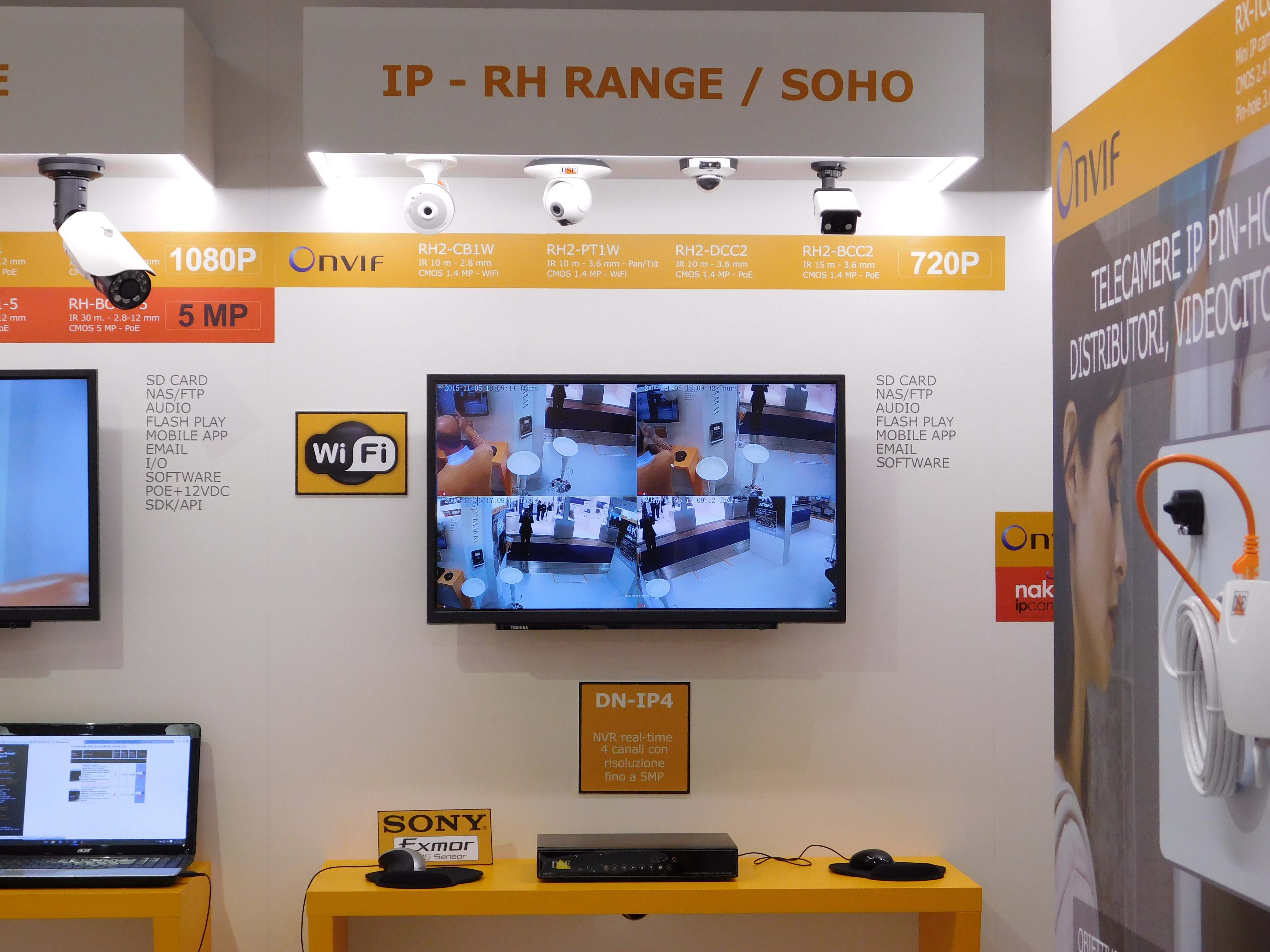 Small Exhibition Stand Alone : Dse italy europe cctv cameras ip hd sdi